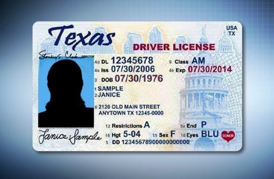 Generic Texas Drivers License 550x360 at Getting Mobile in Texas: Adult Drivers Ed is No Laughing Matter