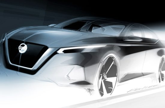 Nissan Altima design sketch 550x360 at 2019 Nissan Altima Previewed Ahead of New York Debut