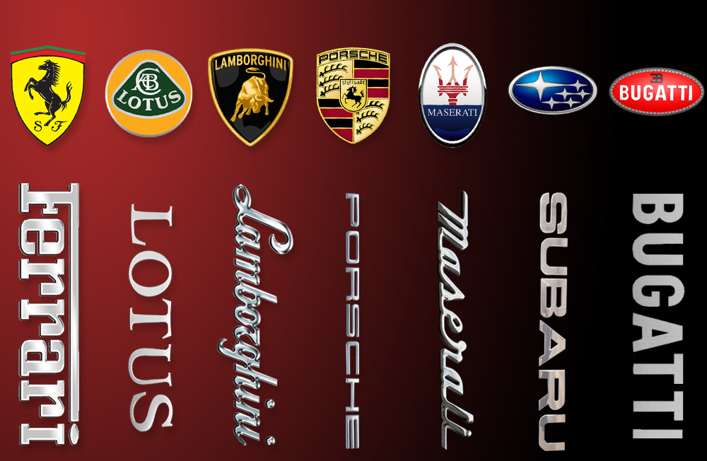 header image supercar logos at How to Choose a Car Brand When Looking For a Car to Buy