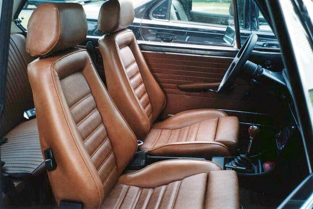 1980 car seat at Cars Over the Century: The History of Seat Cover Styles
