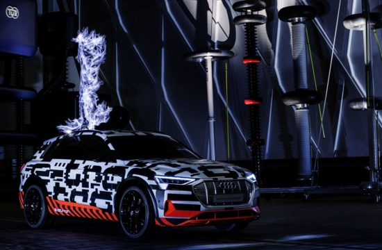 Audi E Tron Prototype 0 550x360 at Audi E Tron Prototype Zapped with Electrical Storm