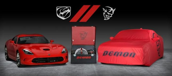 DodgeViperDemonBarrettJacksonf9e5bjg0p6tadq7eqvbsm7uutb  mid 730x324 at Final Dodge Viper and Challenger Demon To Be Auctioned For Charity