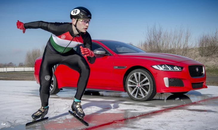 Jaguar XE 300 SPORT 1 730x435 at Jaguar XE 300 SPORT Beats Olympic Gold Medalist in Ice Race