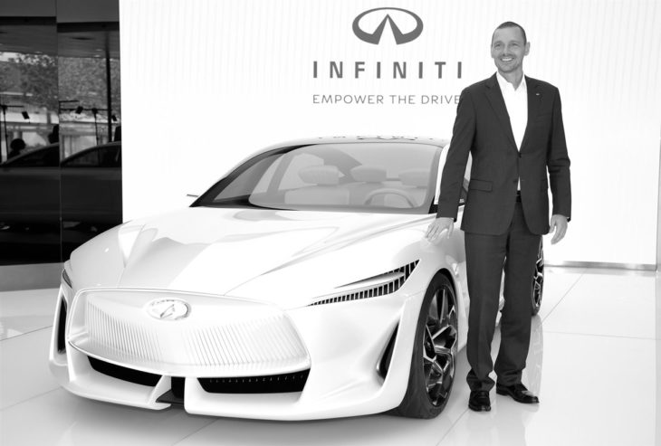 Roland Krueger and Q Inspiration in Bejing1 730x493 at Infiniti Q Inspiration to Spawn Made in China Electric Models