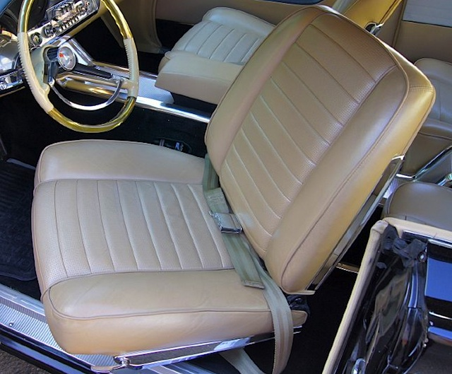 car seats 60s at Cars Over the Century: The History of Seat Cover Styles