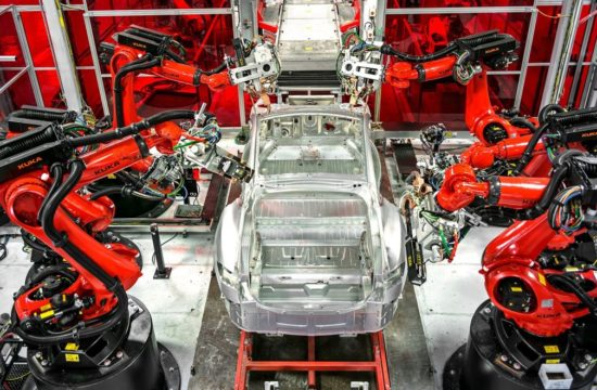 electric car production line 550x360 at Massive Job Loss on Horizon for Auto Workers