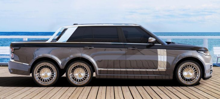 range rover 6x6 1 730x331 at Range Rover 6x6 Pickup Proposed by Coachbuilder