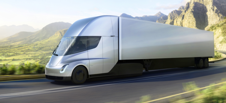 tesla truck 730x333 at How the Tesla Truck is Going to Change the Trucking Industry