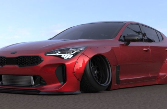 wide kia stinger 1 550x360 at Liberty Walk Kia Stinger May Look Something Like This