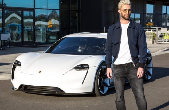 Adam Levine Porsche Mission E 0 550x360 at Maroon 5s Adam Levine Samples Porsche Mission E