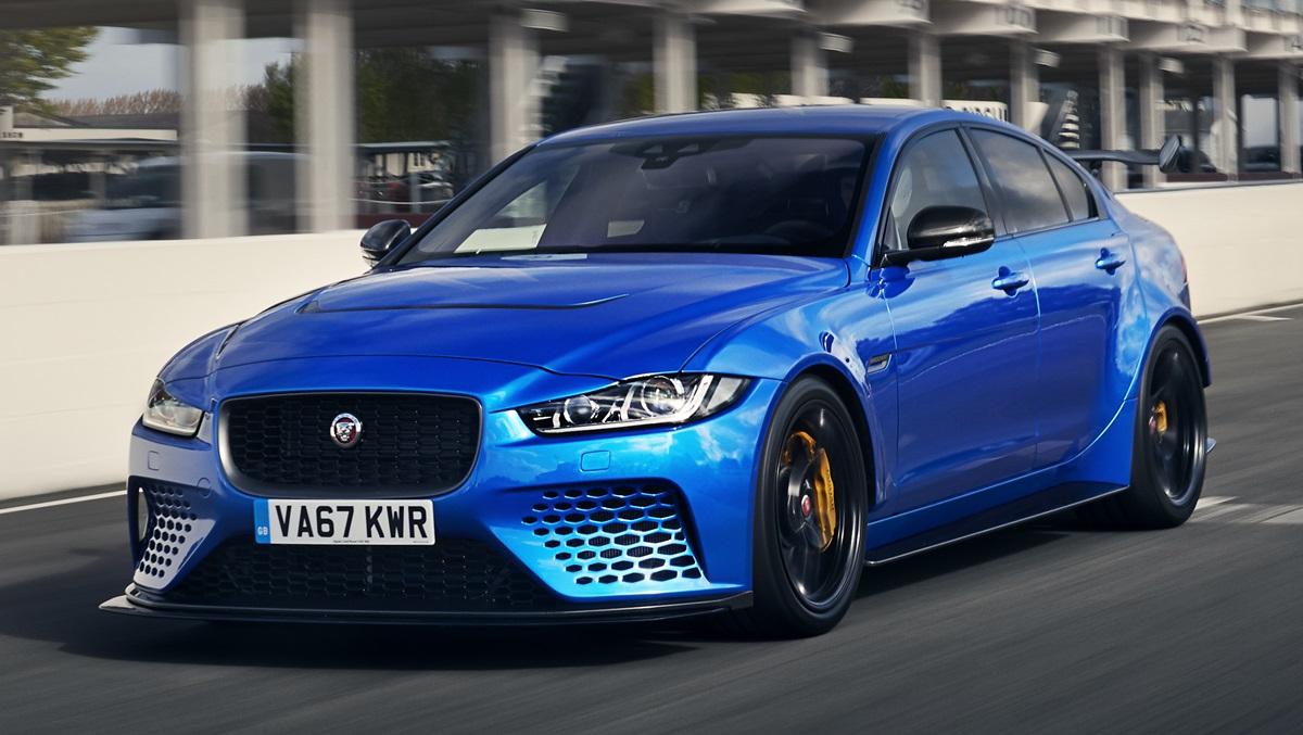 jaguar xe sv project 8 tested at goodwood circuit