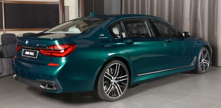 Boston Green M760Li 16 730x357 at Ultimate 7er: Custom BMW M760Li in Boston Green