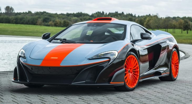 MSO Gulf Racing theme McLaren 675LT 01 exterior resized GF Williams 730x395 at Bespoke McLaren 675LT MSO Gets F1 Long Tails Gulf Livery