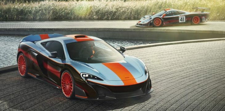McLaren MSO Gulf Racing 675LT with 1997 F1 GTR 11 Longtail 730x360 at Bespoke McLaren 675LT MSO Gets F1 Long Tails Gulf Livery