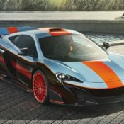 McLaren MSO Gulf Racing 675LT with 1997 F1 GTR Longtail 175x175 at Bespoke McLaren 675LT MSO Gets F1 Long Tails Gulf Livery