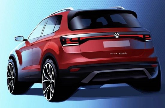 2019 vw t cross 1 550x360 at 2019 VW T Cross Teased, Slots Beneath T Roc