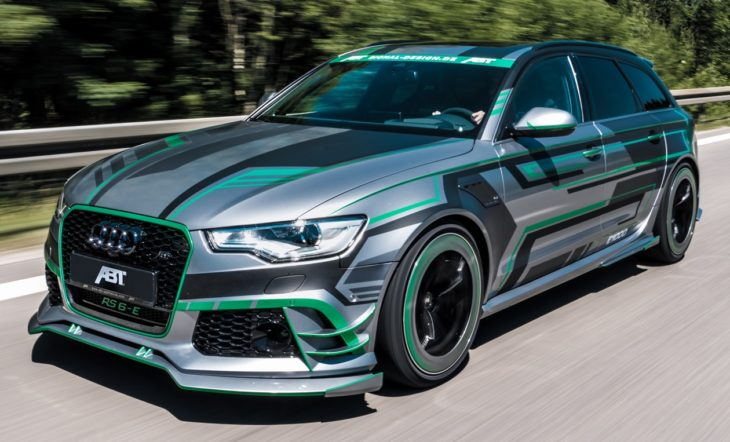 ABT Audi RS6 E Concept front fahrend 5 730x442 at Tuning Goes Electric: ABT Audi RS6 E Concept