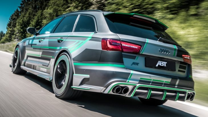 ABT Audi RS6 E Concept heck fahrend 5 730x411 at Tuning Goes Electric: ABT Audi RS6 E Concept