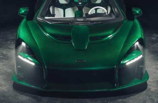 Emerald Green McLaren Senna 1 550x360 at Emerald Green McLaren Senna Delivered to Michael Fux in NYC