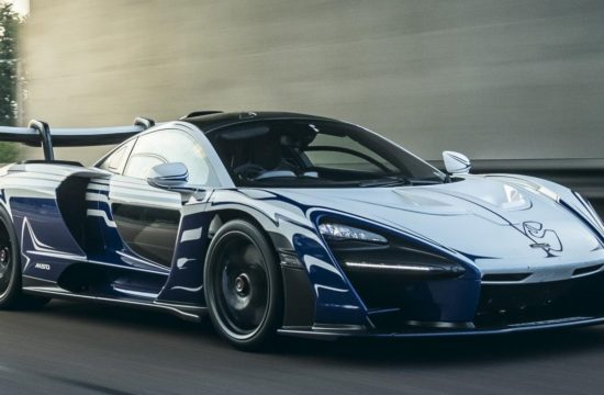 McLaren Senna 001 1 550x360 at McLaren Senna 001 Owner Gives it a Proper Welcome