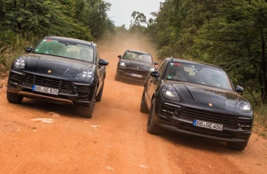 New Porsche Macan 1 550x360 at New Porsche Macan Teased Testing in South Africa