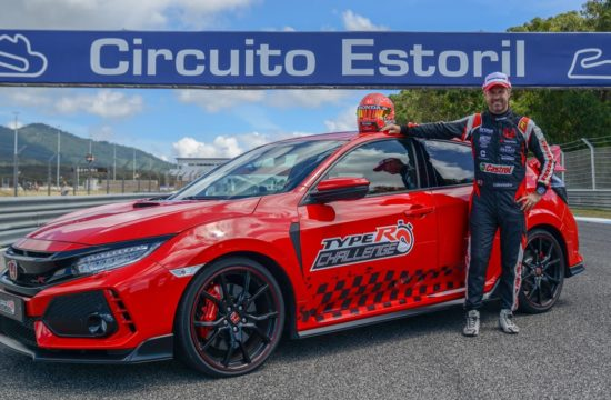 Type R Estoril Tiago Car 1 550x360 at 2018 Honda Civic Type R Sets FWD Lap Record at Estoril