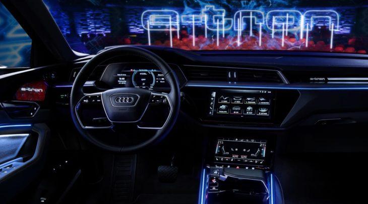 audi e tron interior 0 730x406 at Audi e tron Prototype Interior Pushes Digital Boundaries