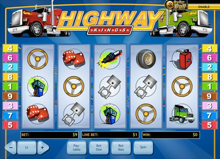 highway slots 730x529 at The Best Car Themed Slots For Motorheads