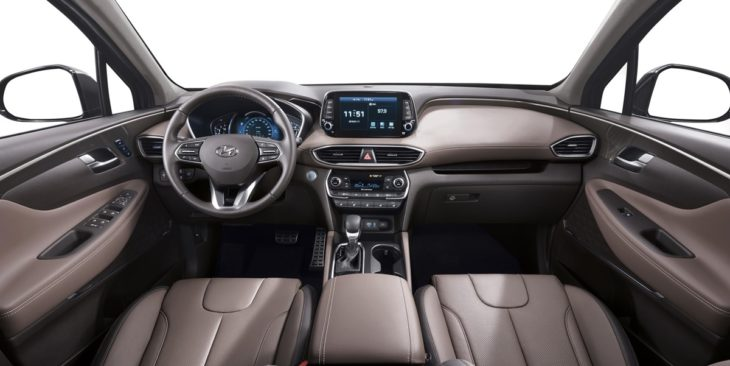 new generation hyundai santa fe interior 02 hires 730x366 at 2019 Hyundai Santa Fe SUV Priced from £33,425 in the UK