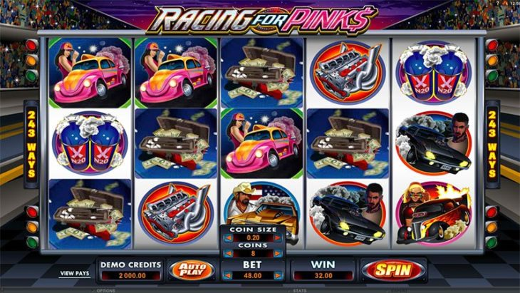 racing for pinks 730x411 at The Best Car Themed Slots For Motorheads