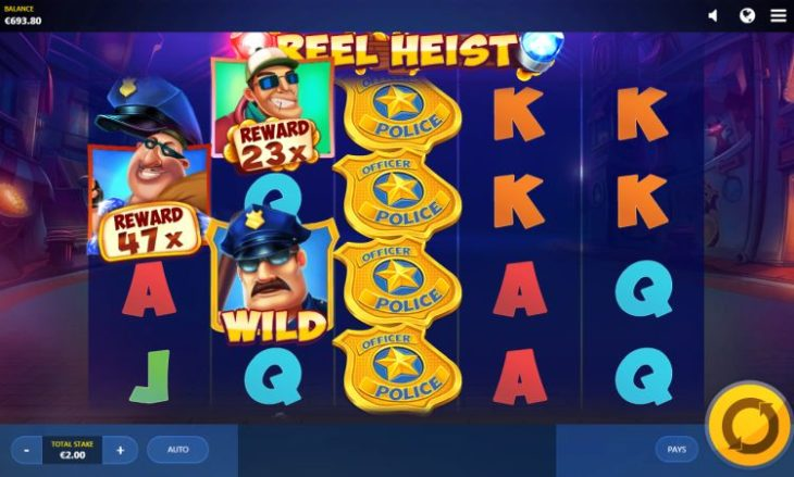 reel heist 730x439 at The Best Car Themed Slots For Motorheads
