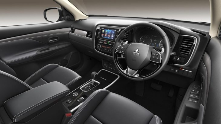 19MY Outlander 4 Petrol Side Dashboard HR 730x411 at 2019 Mitsubishi Outlander Hits UK from £27,680