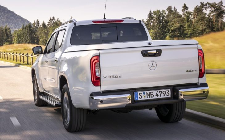2019 Mercedes X Class V6 350d 2 730x453 at 2019 Mercedes X Class V6 350d Priced from £38,350 in the UK