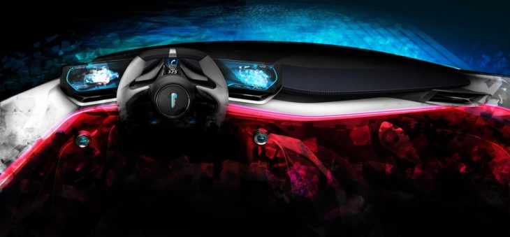 Automobili Pininfarina PF0 Interior Driver 730x339 at Pininfarina PF0 Hypercar Teased for Pebble Beach Debut