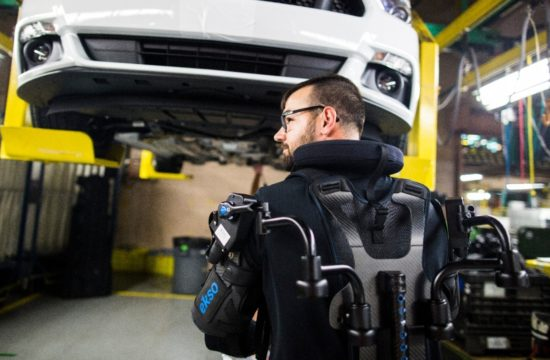 Ford Exoskeleton1 550x360 at Fords EksoVest Exoskeleton Makes Us Want to Work in a Factory!