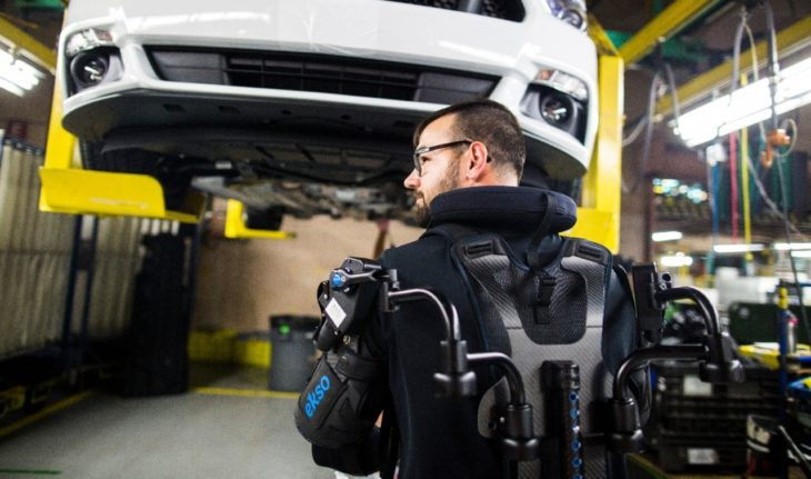Ford Exoskeleton1 730x431 at Fords EksoVest Exoskeleton Makes Us Want to Work in a Factory!
