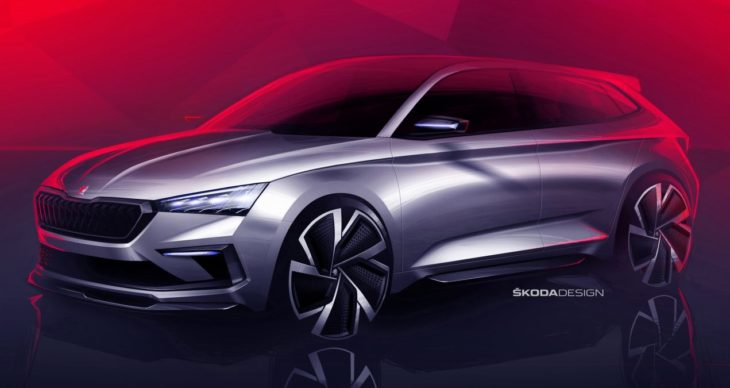 Skoda Vision RS 1 730x388 at Skoda Vision RS Concept Teased For Paris Motor Show