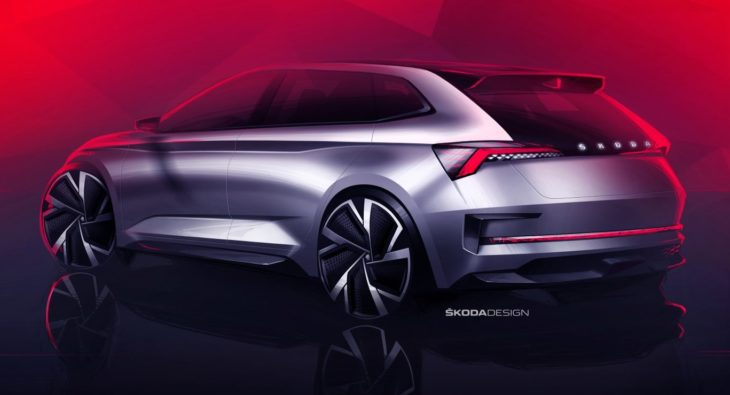 Skoda Vision RS 2 730x395 at Skoda Vision RS Concept Teased For Paris Motor Show