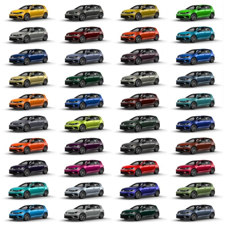 Volkswagen Spektrum Program Offers Custom Colors for 2019 Golf R Large 8614 730x744 at 2019 Golf R Now Available with 40 Custom Colors!