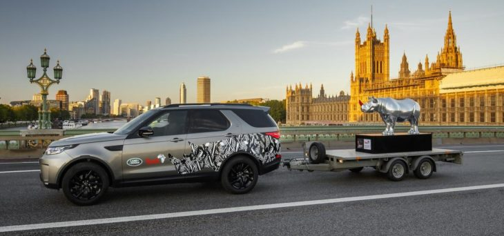 land rover rhino tusk 2 730x342 at Land Rover Takes to Trafalgar Square with a Chrome Rhino!