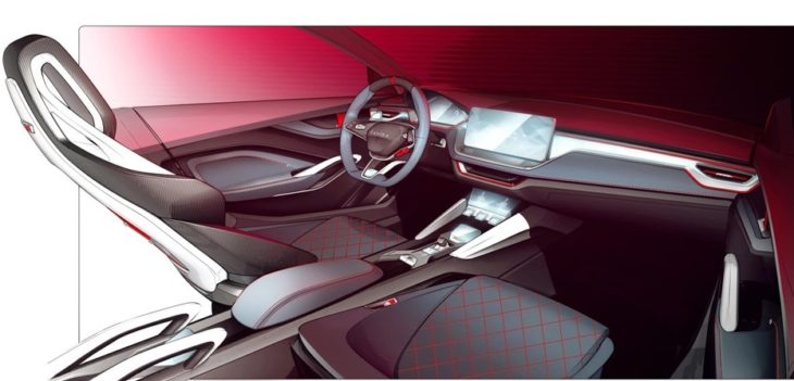 1 VISION RS Interior 730x351 at Skoda Vision RS Concept Interior Teased