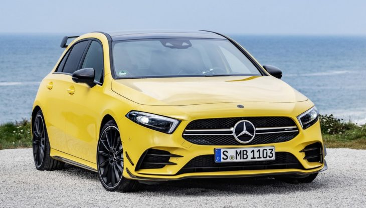 2019 Mercedes AMG A35 1 730x415 at 2019 Mercedes AMG A35 Unveiled with 306 Horsepower