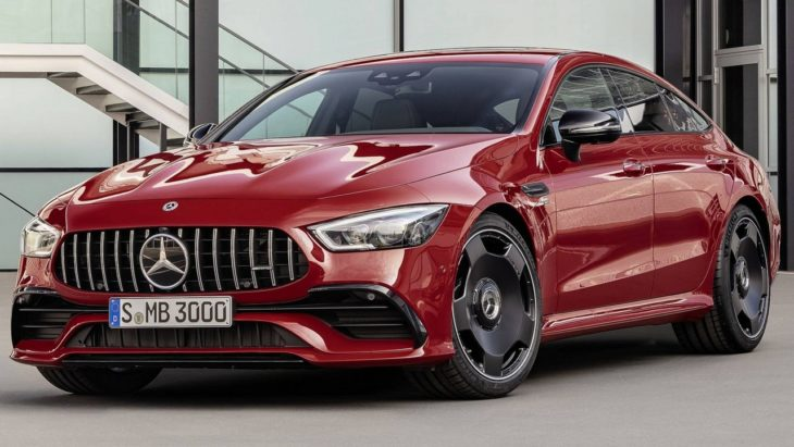 2019 Mercedes AMG GT 43 1 730x411 at 2019 Mercedes AMG GT 43 4 Door Pricing and Specs