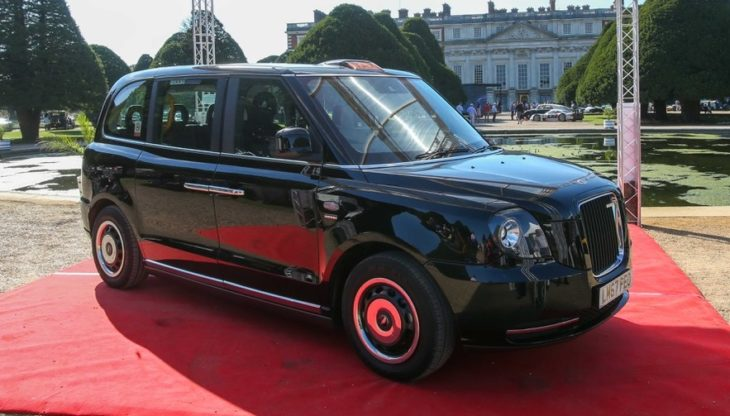 Electric London Taxi 1 730x416 at Electric London Taxi (LEVC TX) Makes Hampton Court Debut