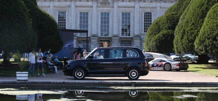 Electric London Taxi 2 730x340 at Electric London Taxi (LEVC TX) Makes Hampton Court Debut