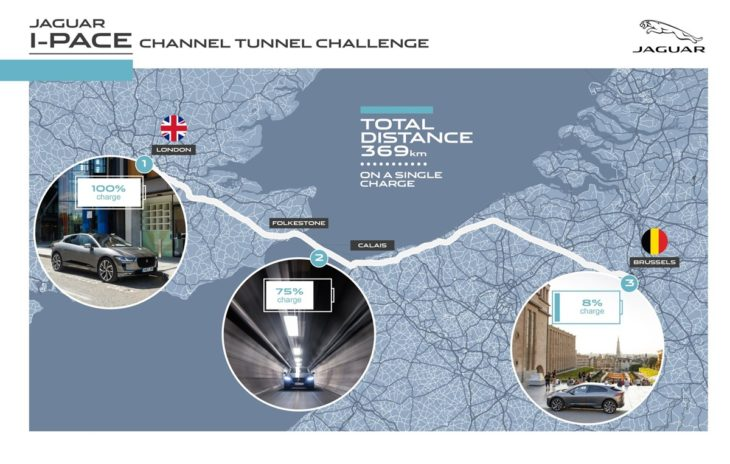 Jag I PACE 19MY London to Brussels Infographic 170918 730x464 at Jaguar I Pace Shows Off Real World Range: London to Brussels on One Charge