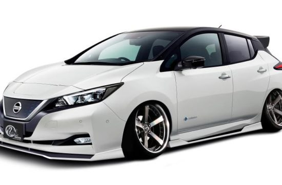 Kuhl Nissan LEAF 1 550x360 at Kuhl Nissan LEAF Goes Negative Camber