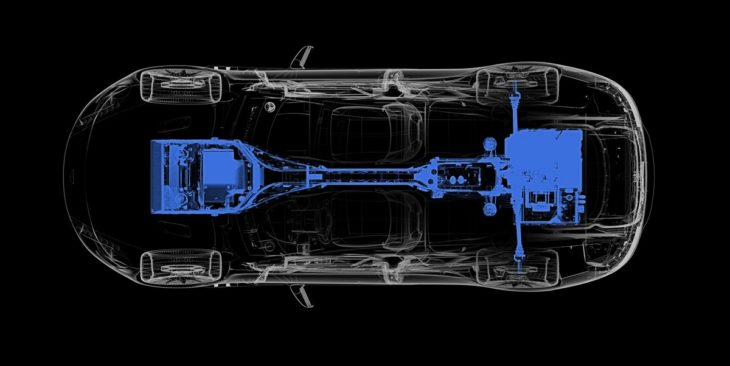 Rapide E Powertrain Diagram 730x366 at Aston Martin Rapide E   Production Specs and Details