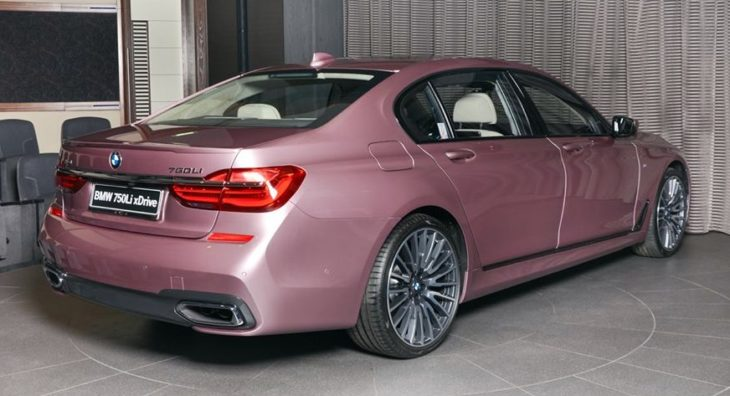 Rose Quartz BMW M750Li 10 730x396 at Rose Quartz BMW 750Li Is a Sight to Behold!