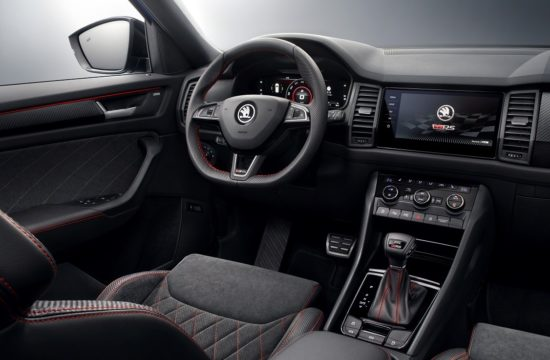 Skoda Kodiaq vRS Interior 1 550x360 at 2019 Skoda Kodiaq vRS Interior Revealed